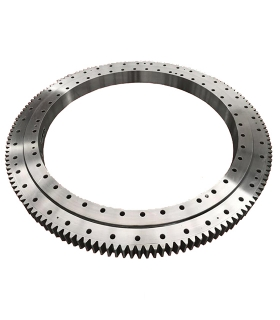 Single Row Four Point contact ball Slewing Bearings for Port Machinery