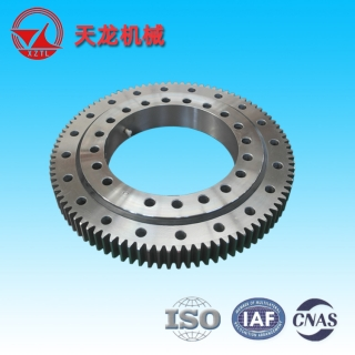(01 series) Single Row Four Point contact ball Slewing Bearings - Outside Gear - 011.25.355