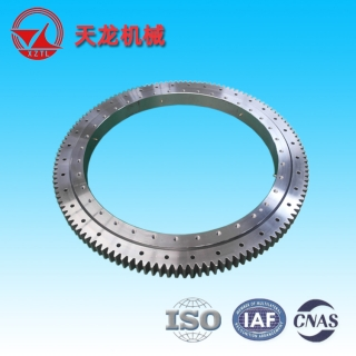 (01 series) Single Row Four Point contact ball Slewing Bearings - Outside Gear - 011.45.1250
